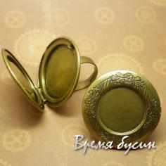 Кольцо с медальоном разъемное
