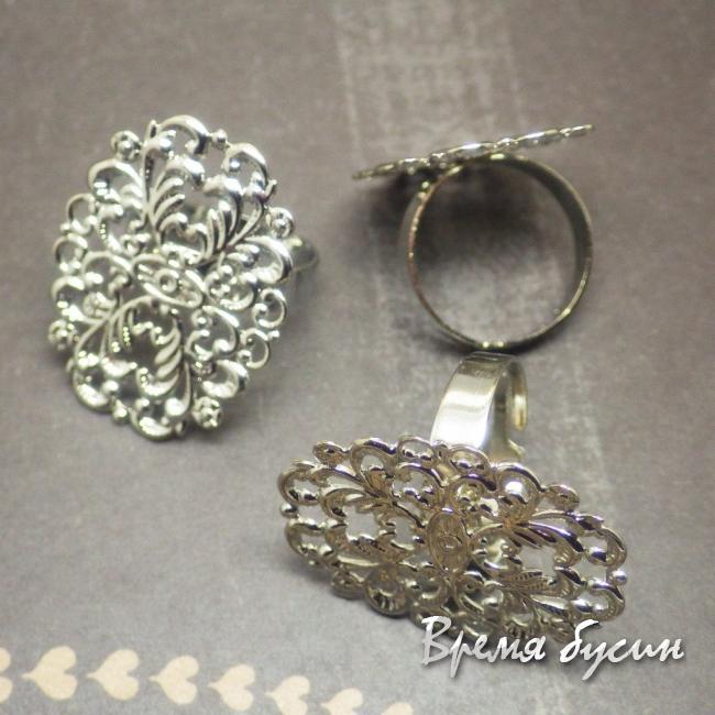 """Основа для кольца с филигранью """"Цветок"""""""