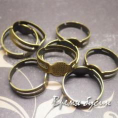 Основа для кольца под бронзу (1 шт.)