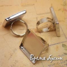 Основа для кольца с квадратным сеттингом 25 мм