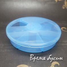 Контейнер для мелочей круглый, 90х20 мм, 7 ячеек