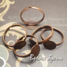 Основа для кольца с площадкой 10 мм, цв. Медь (1 шт.)