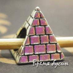 Бусина-шарм для пандоры. Пирамида