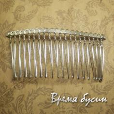 Основа для гребня, цвет серебро, 38х78 мм (1 шт.)
