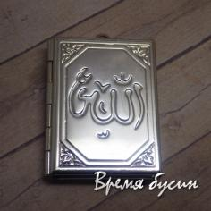 """Подвеска-медальон для фото """"Книга"""". Латунь с родиевым покрытием"""