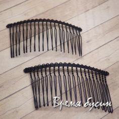 Основа для гребня, цв. черный, 35х75 мм (1 шт.)