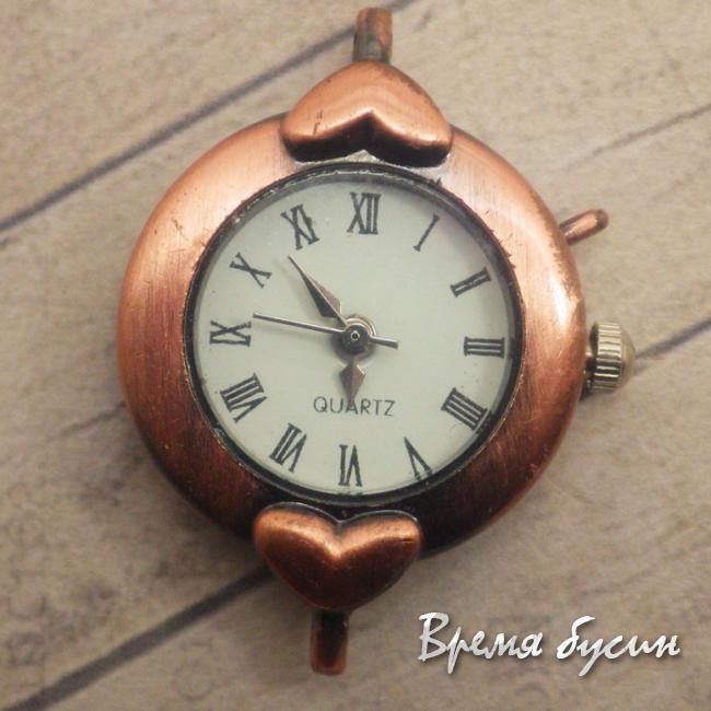 УЦЕНКА: Основа для часов, цвет медь, циферблат римский