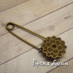 Булавка декоративная, цвет античная бронза