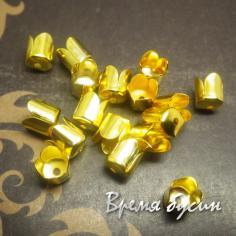 Концевики для шнуров под золото (10 шт.)