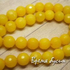 Агат граненый 8 мм, цв. Желтый (1 шт.)