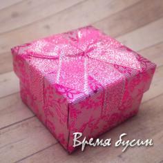 Коробочка подарочная с рисунком. РОЗОВАЯ