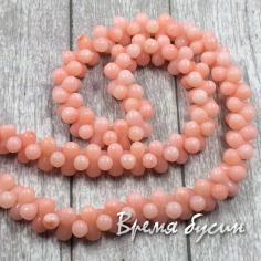 Коралл мелкие бусины гантели, цвет розовый