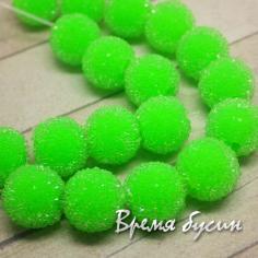 """Бусины """"Сахарные конфеты"""" САЛАТОВЫЕ"""
