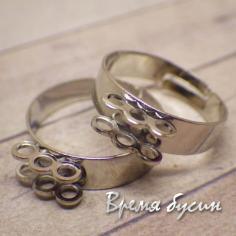 Основа для кольца под серебро с 6 петлями