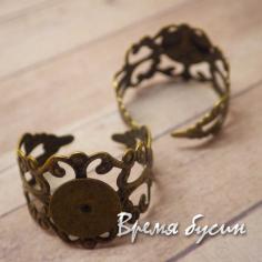 Основа для кольца из филиграни под бронзу