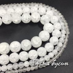 Снежный кварц матовый, шарик гладкий 4-6-8-10-12 мм (1 шт.)