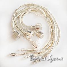 Основа для браслета пандора 16-22 см. Светлое серебро