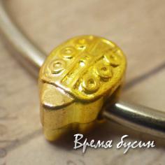 Бусина-шарм в стиле пандора под золото.