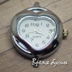 Основа для часов, цвет серебро, циферблат арабский