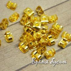 Заглушки для пуссет, 3х5 мм, цвет золото (10 шт.)