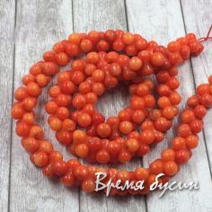 Коралл бусины гантели, цвет оранжевый
