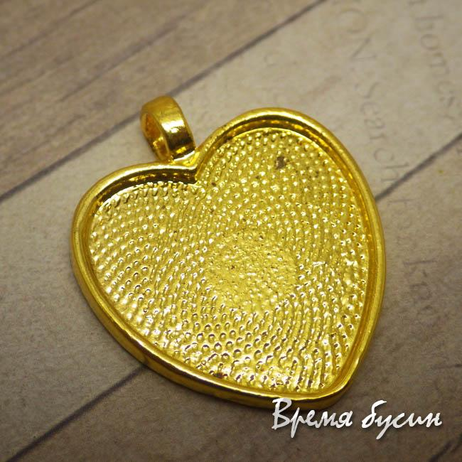 Основа для кабошона Сердце 25 мм