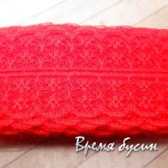 Лента кружевная, ширина 45 мм, цвет КРАСНЫЙ (1 ярд)