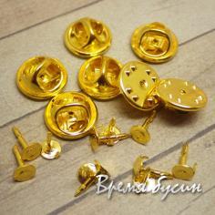 Основа-гвоздик для значка. Цвет золото