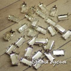 Цапы для прямоугольных страз, 5х10 мм