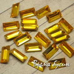 Стразы конусные из граненого стекла. Прямоугольник 5х10 мм, ТОПАЗ