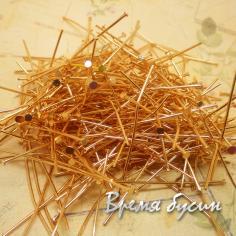 Пины с гвоздиком. Цвет розовое золото. 40 мм (10 гр.)