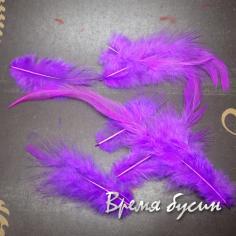 Перо петуха, цвет сиреневый, длина 5-15 см (1 шт.)