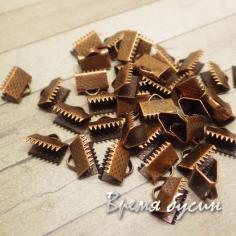 Зажим для ленты, 8х10 мм, цвет медь (1 шт.)