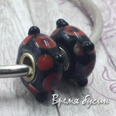 Бусины лэмпворк ручной работы в стиле пандора