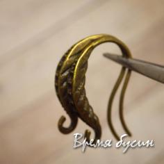Швензы-крючки под бронзу 14х18 мм (1 пара)