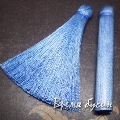 Кисти из шелковой нити 7 см., цвет ГОЛУБОЙ (2 шт.)