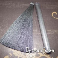 Кисти из шелковой нити 12 см., цвет СЕРЫЙ (2 шт.)