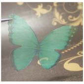 Бабочки из органзы