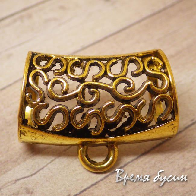 Бейл для шарфа металлический. Цвет золото