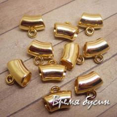 Бейл для подвесок акриловый, цвет золото (1 шт.)