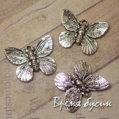 Бабочка. Подвеска под серебро, 11х18 мм (1 шт.)