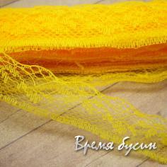 Лента кружевная, ширина 20 мм, цвет желтый (1 ярд)