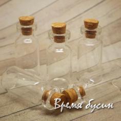 Бутылочка с пробкой, 16х35 мм, 2 мл (1 шт.)