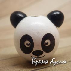 """Бусины деревянные крупные """"Панда"""" (1 шт.)"""