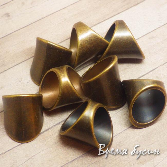 Бусина для шарфа, металлизированный пластик