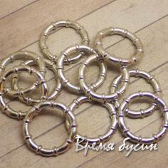 Бусина для шарфа, металлизированный пластик, цвет серебро (1 шт.)