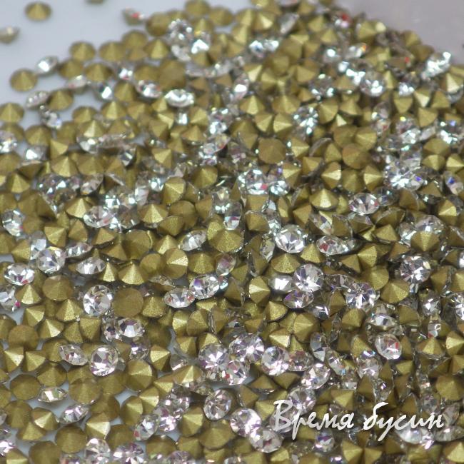 Стразы конусные для бижутерии, цвет Crystal (10 шт.)