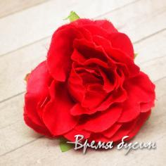 """Цветок из ткани """"Роза"""", 45 мм., цв.КРАСНЫЙ (1 шт.)"""