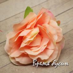 """Цветок из ткани """"Роза"""", 45 мм., цв.КРЕМОВЫЙ (1 шт.)"""