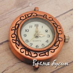 Основа для часов, цвет медь, циферблат арабский